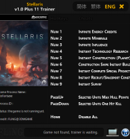 Трейнер Stellaris от FLiNG 1.0-1.0.1